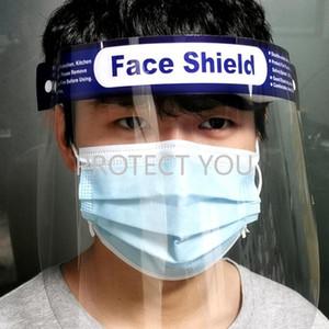 Máscara 10pcs Protección completa Anti-gotitas anti-vaho a prueba de polvo de la cara cubierta protectora transparente escudo protector de la cara Ojos