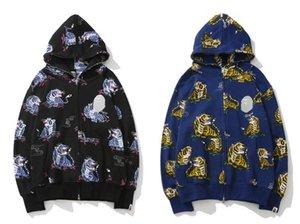 العلامة التجارية هوديي بيضاء SSbrand القرد الفاخرة العلامة التجارية المد نمر رئيس نموذج مشترك نمط سترة صوفية أزياء ذات جودة عالية وبيع الساخنة
