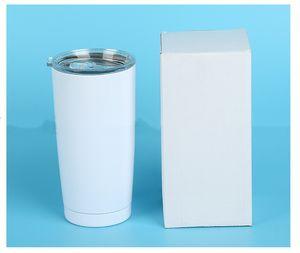 bicchieri isolati sublimazione 20 once auto tazza in acciaio inox a doppia parete tazza macchina sottovuoto con birra coperchio caffè latte tazza bottiglie d'acqua A07
