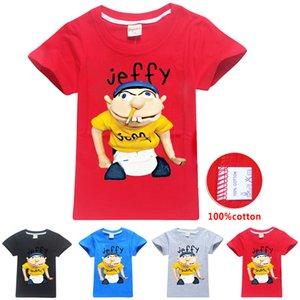 sml Jeffy impressa miúdos camisetas 6-14T Crianças Meninos dos desenhos animados Imprimir 100% algodão T camisas 115-165cm Crianças Designer Clothes Meninos KSS383