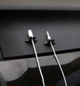 Recém 8PCS / set Mini Adhesive Car Linha Charger Fecho da braçadeira Headphone / USB Cable Car Clipe Automobile Interior Acessórios frete grátis