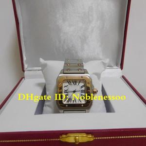 Calidad superior caliente de las señoras de dos tonos oro amarillo de 18 Acero romana línea cuarzo 34MM señora señoras relojes de las mujeres