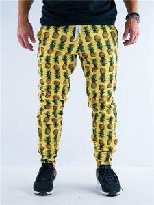 Pineapple Printed Mens Designer Pants Casual Fashion Hawaiian Style Skinny Sports Pencil Pants Mens Fashion Pants