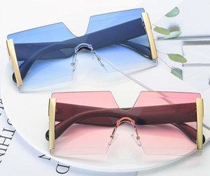 9colors europeo e americano siamese eyewaer senza montatura eyewaer Fashion big Frame personalità occhiali da sole Trendy occhiali da sole W116