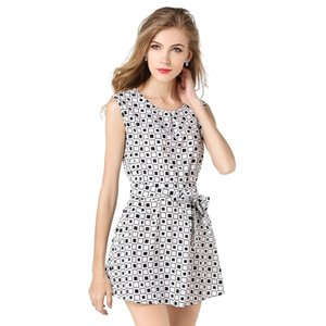 2019 Polka Dot Women Dress Casual Work Dress Plaid O-Neck Porm Club Travel Party Sexcy Chiffon Mini White Plus Women Party Beach Vestidos