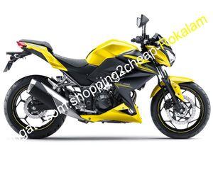 Para Kawasaki Z250 carenado 15 16 z 250 Z300 2015 2016 Z 300 Amarillo Black Sports Motorbike Cuerpo Kit de cares (Moldeo por inyección)