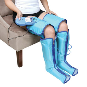 Air Compression Leg Massager Boots - Inflatable Wraps for Pain and Swelling -