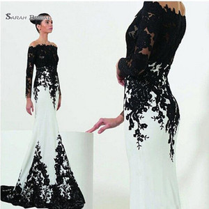 Off Shoulder Mermaid Dress Custom Size Plus Size Satin Applique Celebrity Evening Gowns Vestidos De Novia