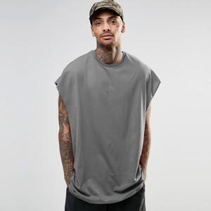 Hombre del diseñador camisetas sin mangas Casual manga del palo del verano Tops camisas Hiphop High Street para hombre t flojo