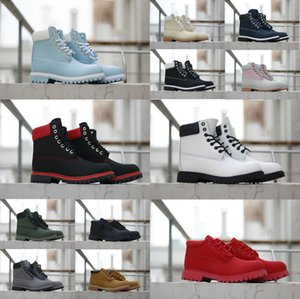 2020New Timberland boots mens womens مشجرةأحذية عالية الجودة الأحذية الفاخرة رجل إمرأة مصمم العسكرية كستنائي الثلاثي كامو التنزه الثلوج في فصل الشتاء مارتن