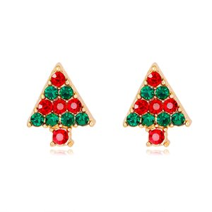 Explosion-proof single-piece earrings, unique design of the Christmas tree, the cross-border special-purpose ornaments