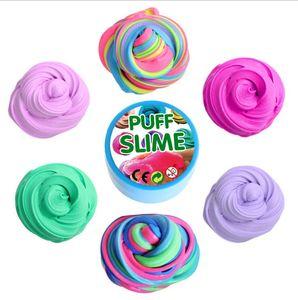 PUFF SLIME 어린이와 성인을위한 다채로운 면화 진흙 DIY Plasticine 진흙 안티 스트레스와 편안한 감압 장난감
