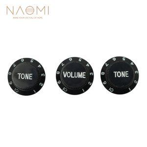 NAOMI 1 볼륨 2 톤 컨트롤 노브 (기타 포함) 액세서리 기타 New Black Color High Quality