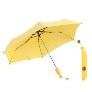L'ombrello creativo della banana Ombrelli protegge l'ombrello di simulazione della frutta ripiegabile ombrello portatile ultra-chiaro vendita libera di trasporto