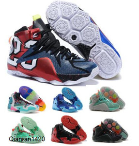 Scarpe da basket scarpe da ginnastica rosse Che Lebrones 11 12 Christmas Calore dati di gioco NSRL South Beach Lontano 2020 Man Mens Chaussures Designer Shoes