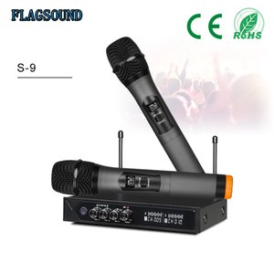 S-9 Hotsale UHF Bluetooth Wireless Microphone System with Adjustalbe Bass Echo Microphone Sans fil bluetooth Microphone Home Theater Mic