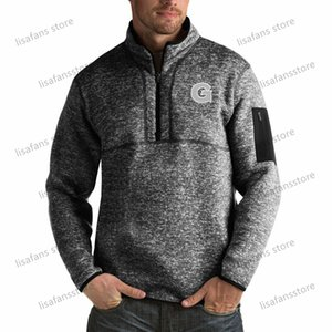 Georgetown Hoyas Pullover Felpe Mens Fortune Big alto Quarter-Zip Pullover Giacche cucito College Football Sports Felpe