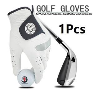1pcs Gants de golf Gauche / Droite Men Soft Hand respirant en peau de mouton avec antidérapants Granules Gants de golf