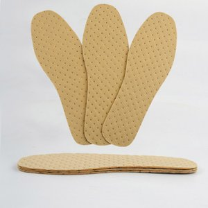 1 pair pasta di legno Soletta Inserti calzatura traspirante Deodorante Sudare-assorbente Suola sottile di estate Deodorante solette