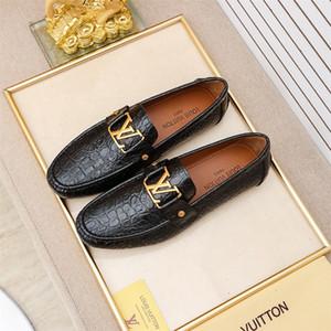 Şık Erkek hakiki deri loafer'lar sivri burun erkekler biçimsel İş Elbise ayakkabı Geçmeli erkekler düğün ayakkabıları