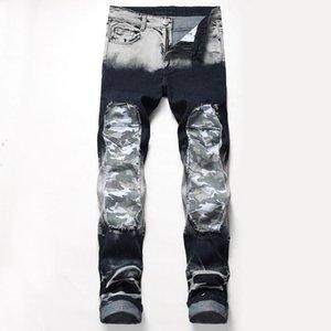 Mens Camouflage impressão Jeans botão Hetero Pants voar longas Fashion Style Homme Vestuário Adolescente Vestuário Casual