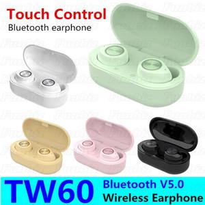 Estéreo macaron TW60 auricular de Bluetooth Auto Pairing TWS sin hilos sin manos del auricular binaural 3D llamada auriculares con el Mic caja de carga