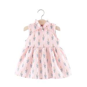 Estate neonato neonato senza maniche abiti da bambino ragazza cheongsam stile tradizionale cinese motivo floreale cinese rosa vestito da principessa J190614