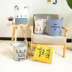 Çocuklar Giyim depolama sepetleri Harf Çamaşır Saklama Poşetleri Çizgili Oyuncak Depolama Basket Kutuları Kepçe Katlanabilir ClothingOrganizer6Designs LQPYW477