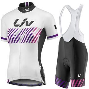 2020 새로운! 리브 팀 여성 자전거 유니폼 세트, 여름 자전거 의류 여성용 자전거 의류 자전거 의류 자전거 저지 + 턱받이 반바지.