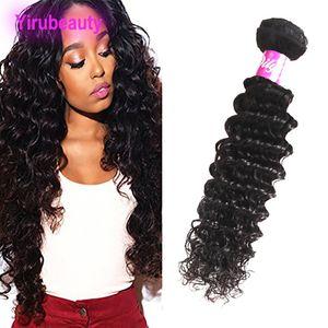 Бразильский перуанский Индийский малазийский Human норка волос Deep Wave One Bundle 1шт / серия Natural Color 8-28 дюймов Extensions волос