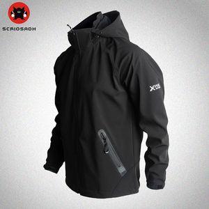 Outdoor Sport Softshell Jackets Mesh Breathable Windproof Waterproof Jacket Camping & Hiking Men  Fleece Trekking Jacket