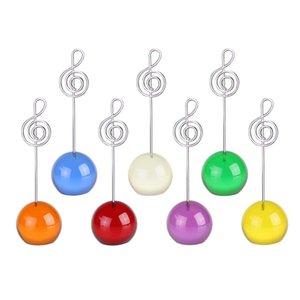Creative Music Remarque fil en métal Clip coloré avec bille en résine de base Mode Décoration