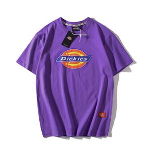2020 Luxo / stussy Impressão Primavera e Verão Retro Cotton T-shirt em torno do pescoço curto T-shirt de manga Rua