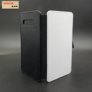 Samsung S10 / S10 lite / S10 Artı Süblimasyon 2D deri PU cep telefonu kılıfı cep telefonu kapak