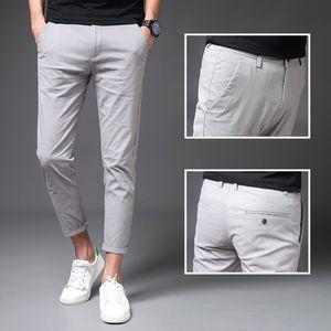 Cargo pied! 9 HOMMES Pantalons Pantalons simple Automne coréenne style tendance en ligne Celebrity Slim Fit Men