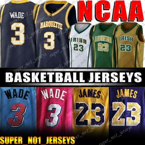 NCAA St. Vincent High School de James 23 Jerseys LeBron 3 Dwyane Wade Jersey Kevin 35 Jersey Faculdade Durant Leonard Basketball Jerseys
