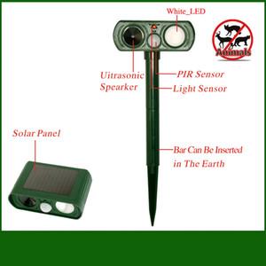 Ultrasonic animal Repeller inteligente brotos Dog Repelente Outdoor Solar intempéries do cão / gato / Mosquito Repeller radiação ferramenta FFA3750