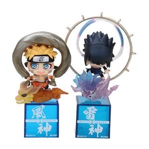 Наруто Shippuden Fujin Uzumaki Наруто Raijin Учиха Саске фигурки ПВХ Наруто куклы коллекционная модель игрушки