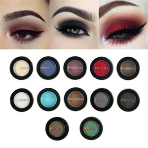 2019 PHOERA Cosmetic Matte Eyeshadow Cream Beauty Single Eye Shadow Palette 12 colori ombretto Shine Pigment Makeup Tool