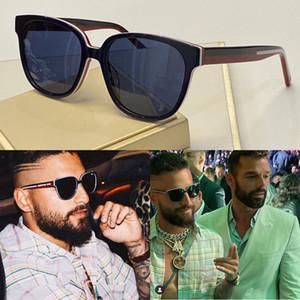 Lentes de Sol bandera para pequeños anteojos marco cuadrado popular de estilo vanguardista superior protección UV calidad gafas vienen con el caso