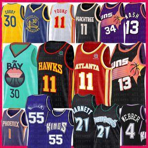 2020 Stephen Curry Trae Devin 11 jóvenes camiseta de baloncesto Booker Steve Nash Hawk Charles Barkley Jason Williams 13 55 21 Kevin Garnett Webber