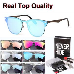 Высокая Quailty Новый дизайн Алюминий Магний Солнцезащитные очки Мужчины Женщины Фирменное зеркало очки с оригинальной коробке, пакеты, аксессуары, все,