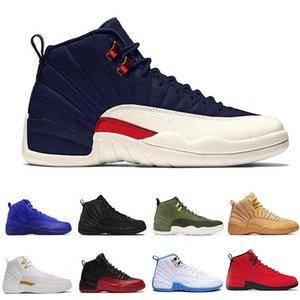 12 scarpe da basket economici 12s Bulls amarena influenza bianco Gioco Vachetta Tan Gym Red maestro di taxi lupo playoff grigio blu J12 Seankers