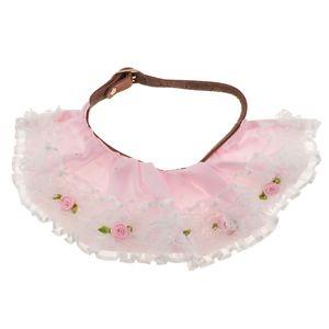 Pet Dog Cat Lace Rose Flower Collar Wedding Princess Neckerchief Necklace