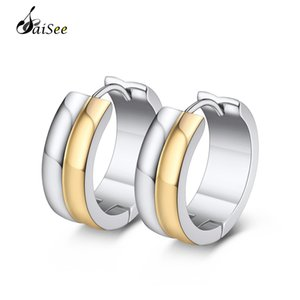 SaiSee 316L Stainless Steel Hoop Earrings For Women Men Silver Color Circle Small Earrings Fashion Female Jewelry