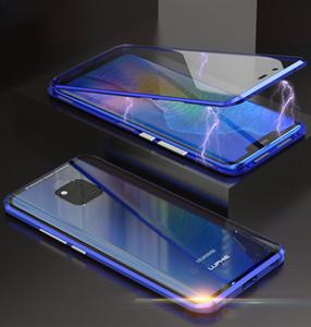 Luphie Магнитная Адсорбционная Крышка Телефона 360 Полный Закаленное Стекло Флип Чехол Для Huawei Mate 20 Pro