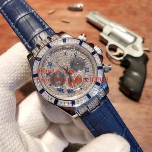 Новый горячий продавать мужские часы 40 мм 116500 116599 из нержавеющей стали Алмазный корпус Алмаз Римский циферблат сапфировое стекло Азия 2813 автоматический мех