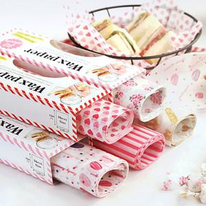 50 fogli / Pezzi Carta cerata Food Grade Grease carta alimentare Wrapper Carta da regalo per il pane panino hamburger Fries Candy Oilpaper cottura Tools
