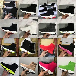 2020 Новый кроссовка бегун носки горячие туфли топное качество тройной черный белый красный синий абрикосовый тренер повседневная обувь спорт с коробкой пыли сумка