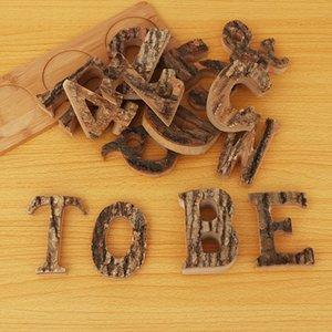 1PC A~Z 0~9 Retro Wooden Letters Vintage Numbers Decor Wood Wooden Letters White Alphabet Wedding Party Home Decora Alphabet